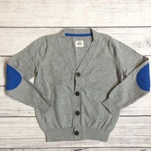 Mini Boden Elbow Patch Cardigan Sweater
